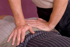 Chiropractic care back adjustment