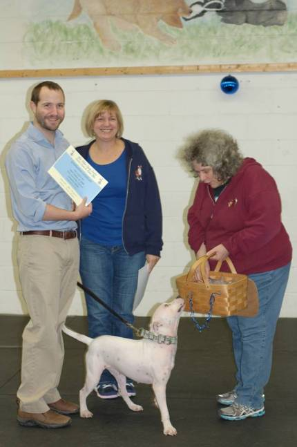 Dog obedience training certificate
