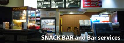 Snack Bar and bar services